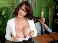 Fucking the monster titted M.I.L.F. who's wearing glasses